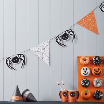 Spooky Spider Halloween Party Bunting - 3m